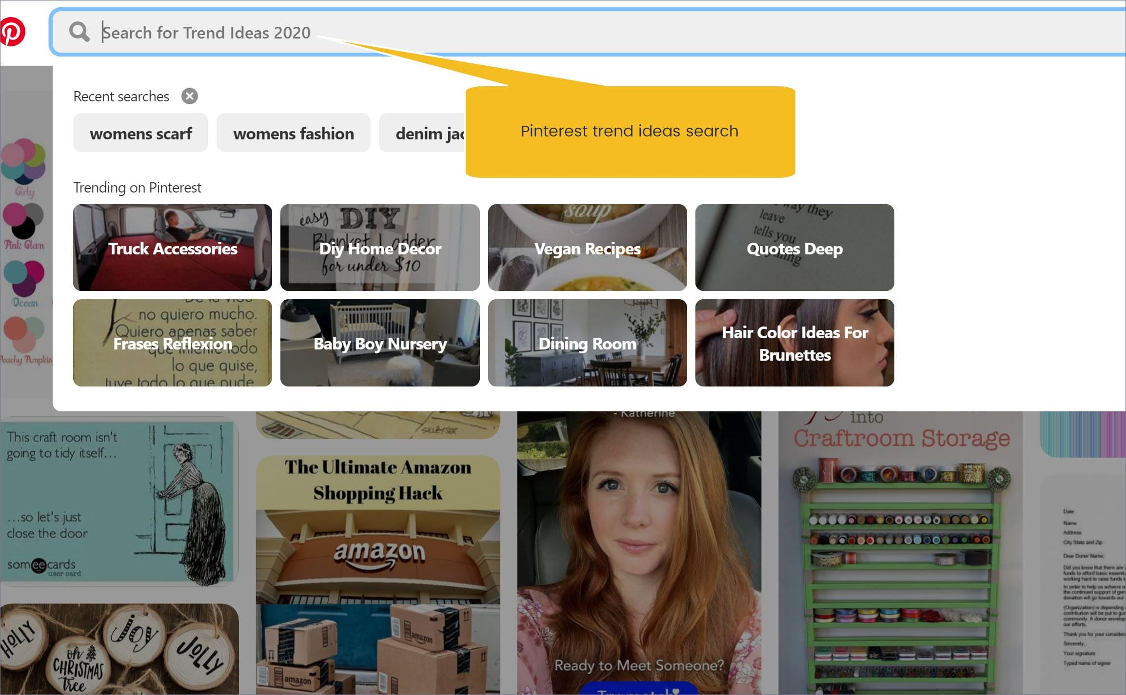 Blog topic search idea